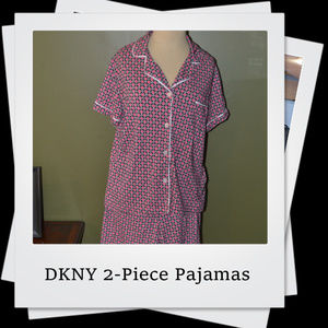 NWOT   DKNY Womens 2-Piece Pajamas